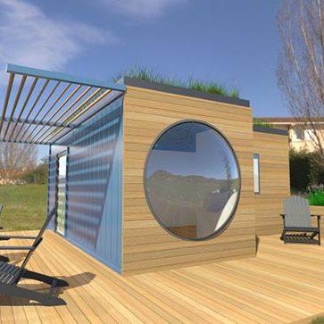 Paysage contemporain près de Lyon Rhône 69 Conteneur Studio